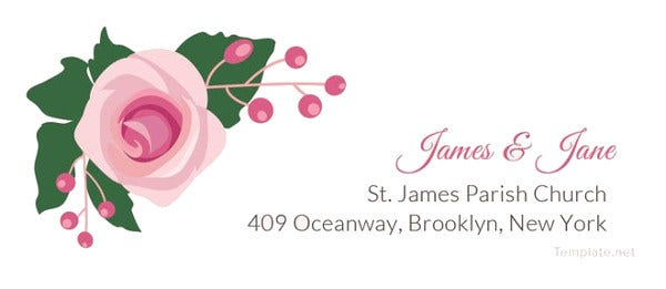 pink-wedding-address-label-template