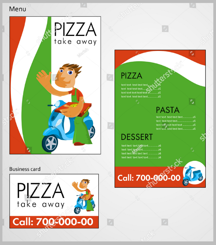 pizza takeaway menu design