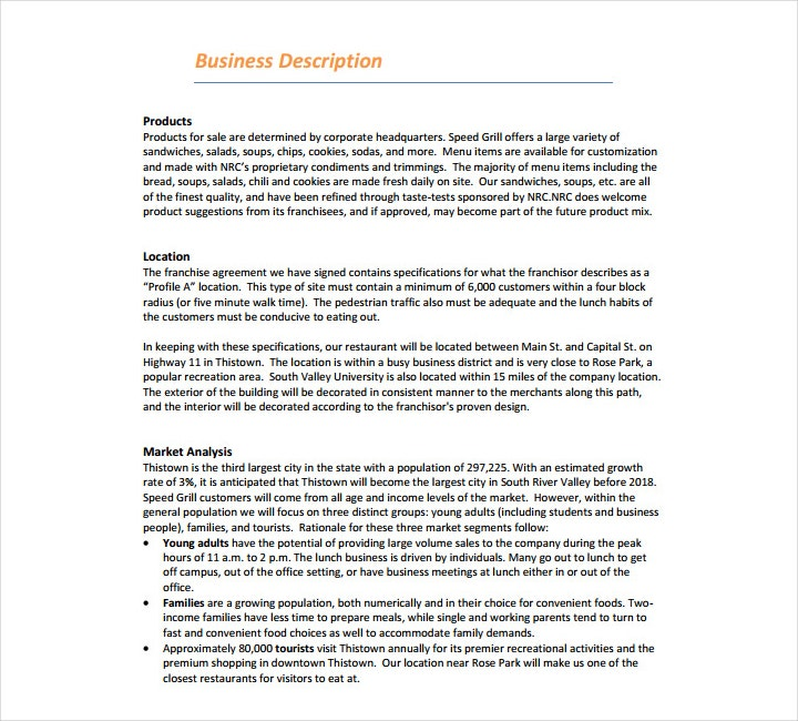 Restaurant Business Plan Outline