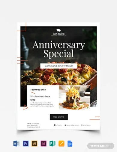 restaurant flyer template2