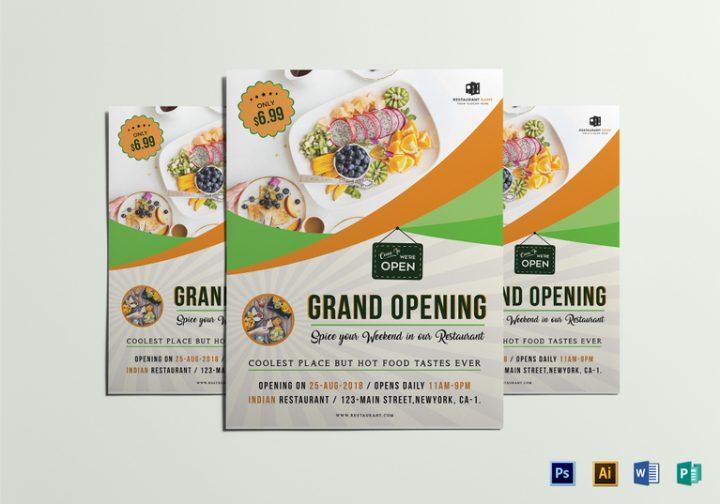 restaurant grand opening flyer template e1509609766425