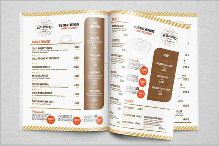 27 indesign menu templates free premium templates for Sandwich shop menu template