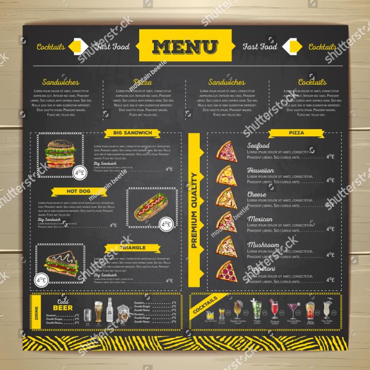Restaurant Pizza Menu Template