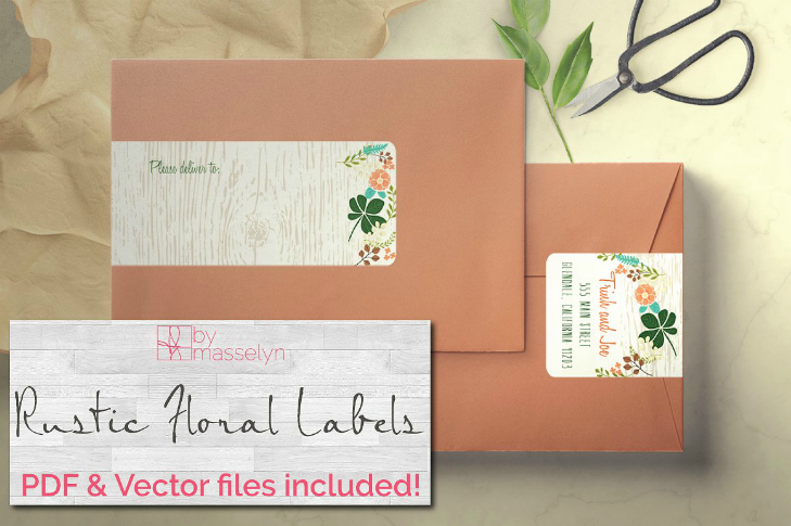 rustic-floral-wedding-address-label