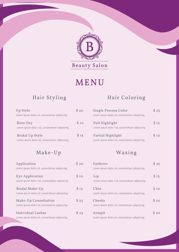 salon-menu-template