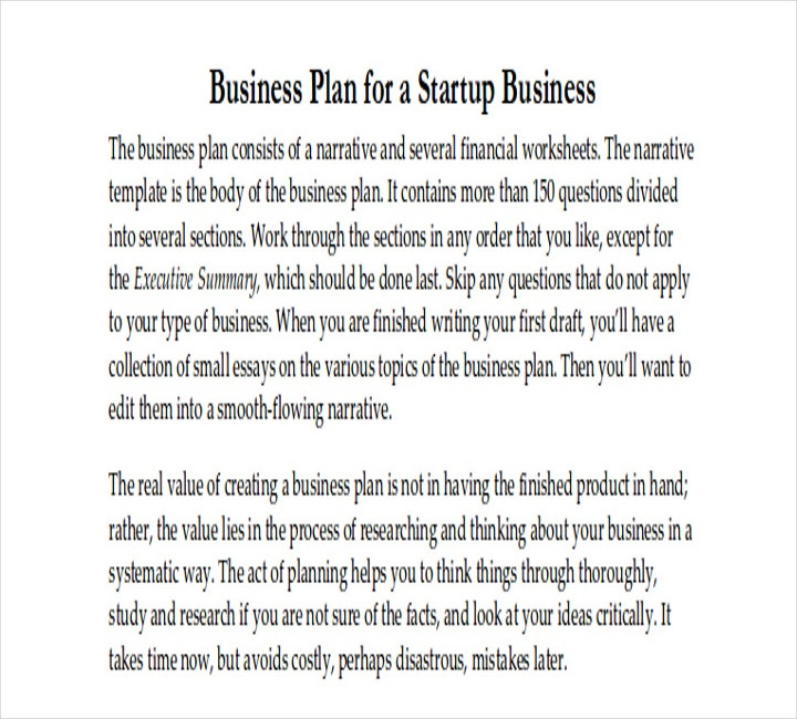Sample Business Plan for a Startup Restaurant in PDF
