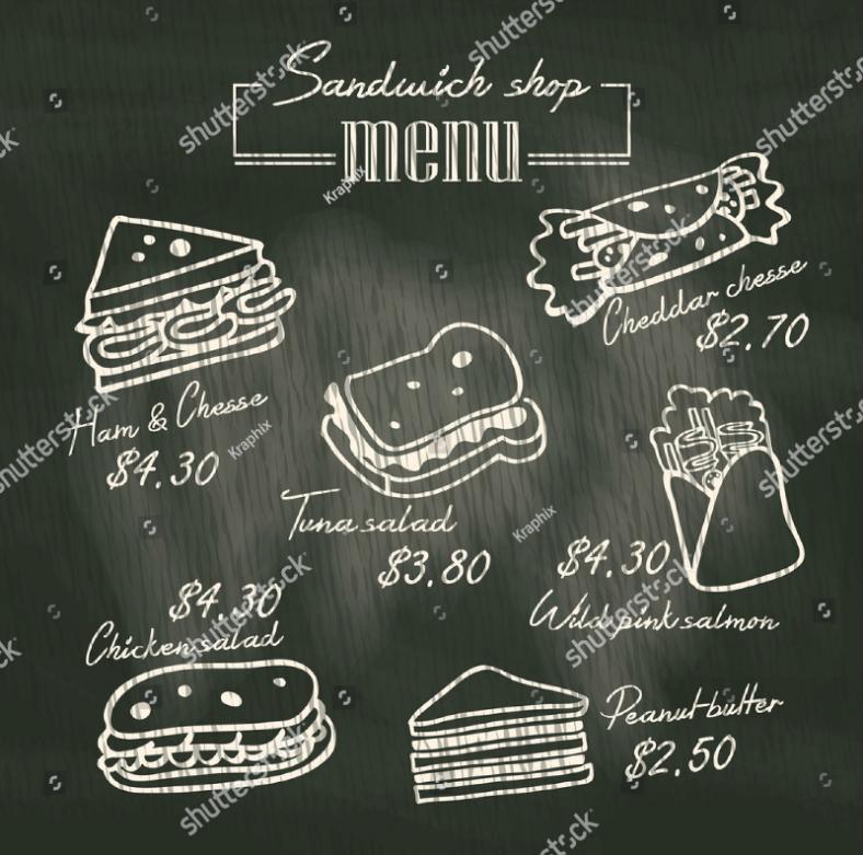 sandwich-doodle-menu-design