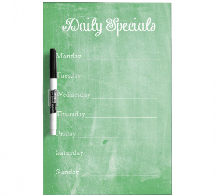 green chalkboard menu template