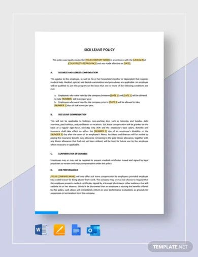 sick leave policy template