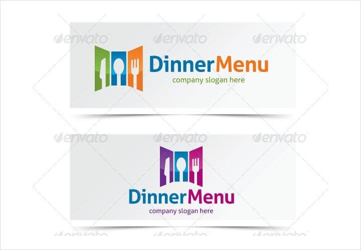 simple dinner menu design