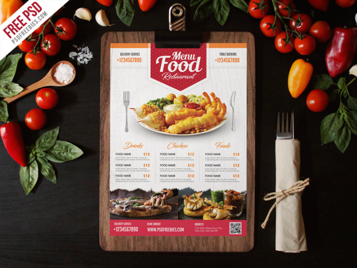 simple-food-menu-psd-template