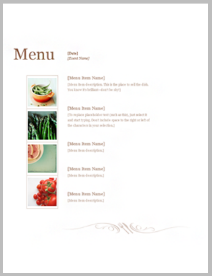 28 free menu templates free premium templates for Easy menu templates free