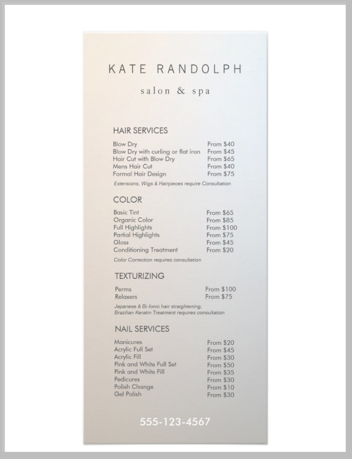 simple-salon-service-menu-design