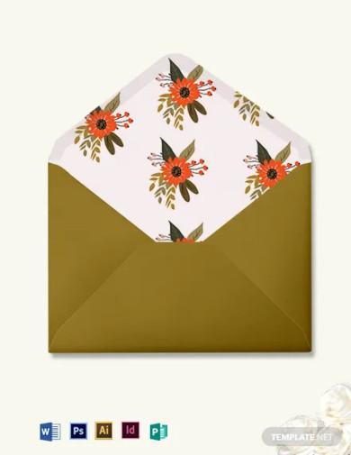 small flower wedding envelope template