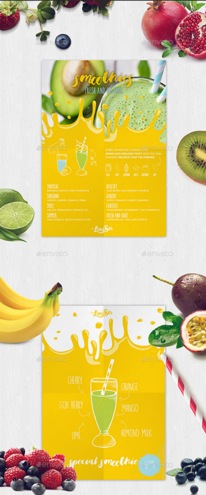 smoothies-indesign-menu-template