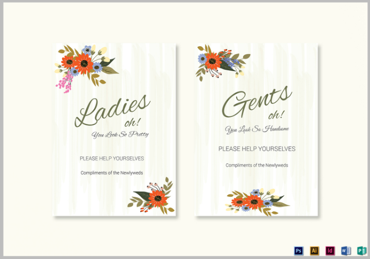 summer-floral-wedding-bathroom-signs-card-template