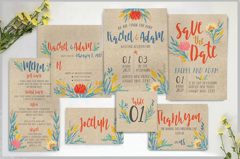 summer floral wedding invitation template 788x524