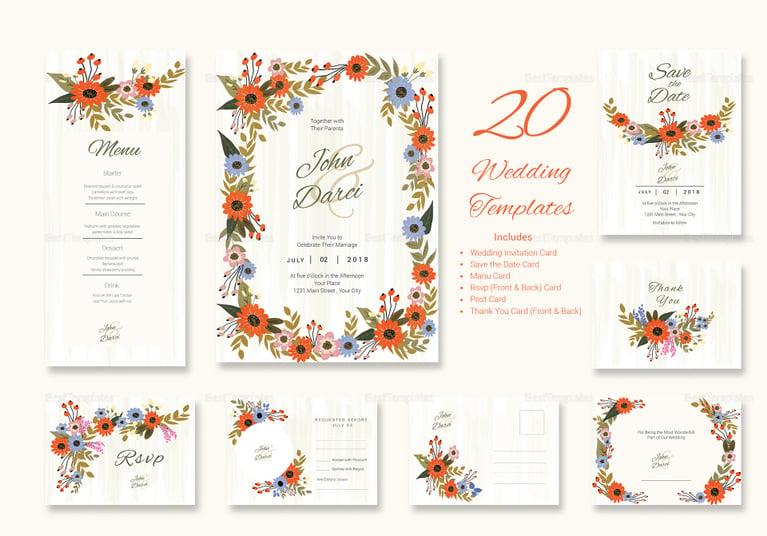 summer floral wedding package