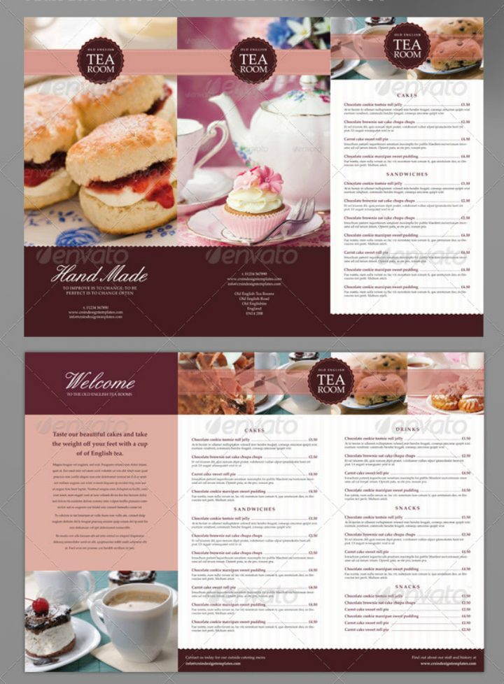 tea-room-indesign-menu-template