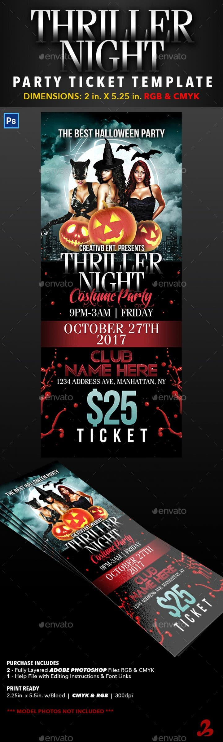 thriller night ticket image preview