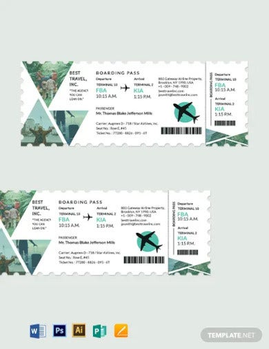 travel agency ticket template