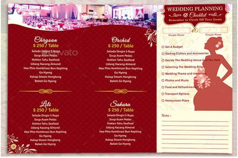 trifold-wedding-set-menu-package