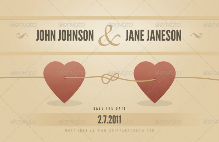 vintage wedding announcement template by jackrugile graphicriver
