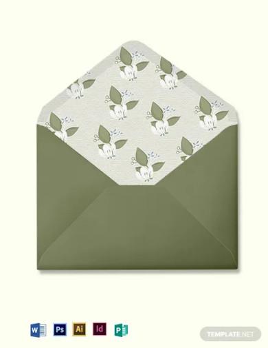 vintage wedding envelope template