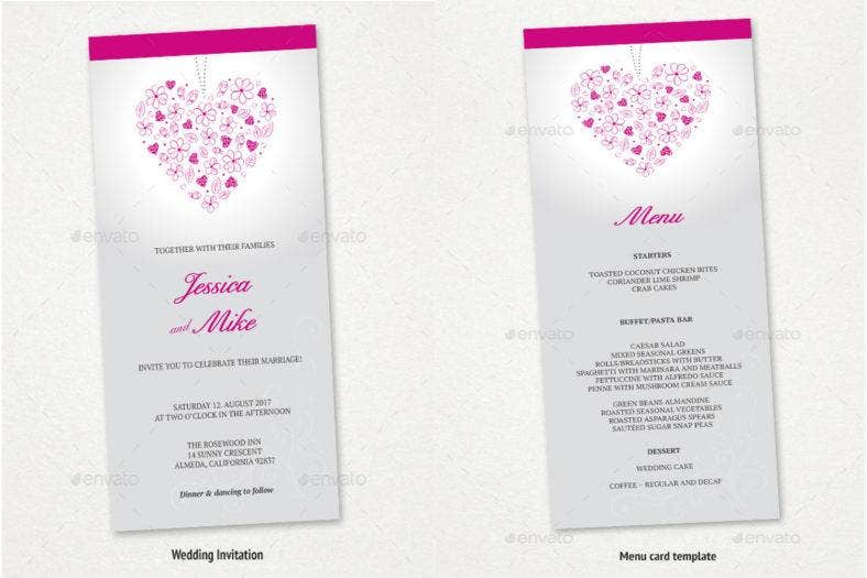 wedding-invitation-menu-rsvp-card-set