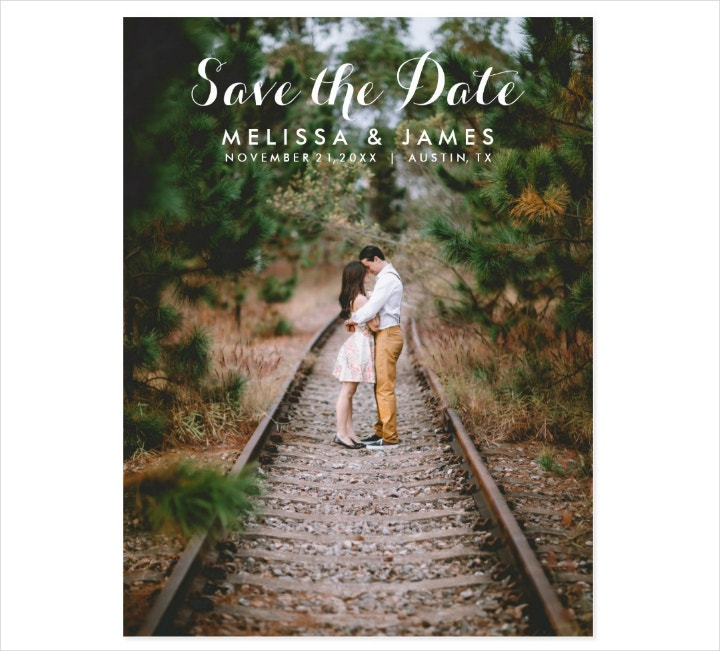 Wedding Photo Save the Date Postcard