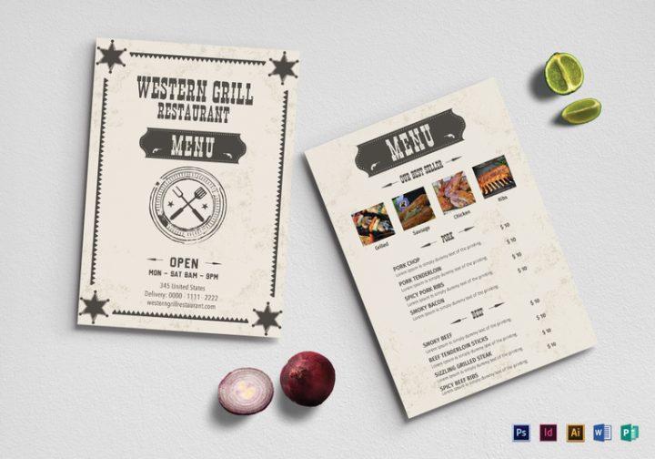 western-grill-restaurant-menu-template