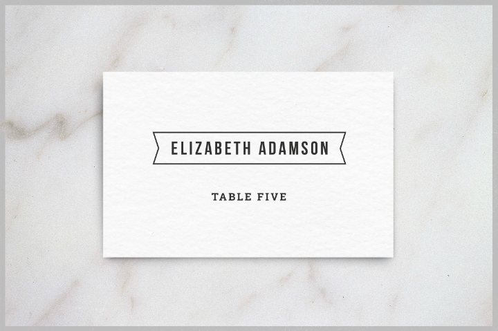 white-wedding-table-card-template
