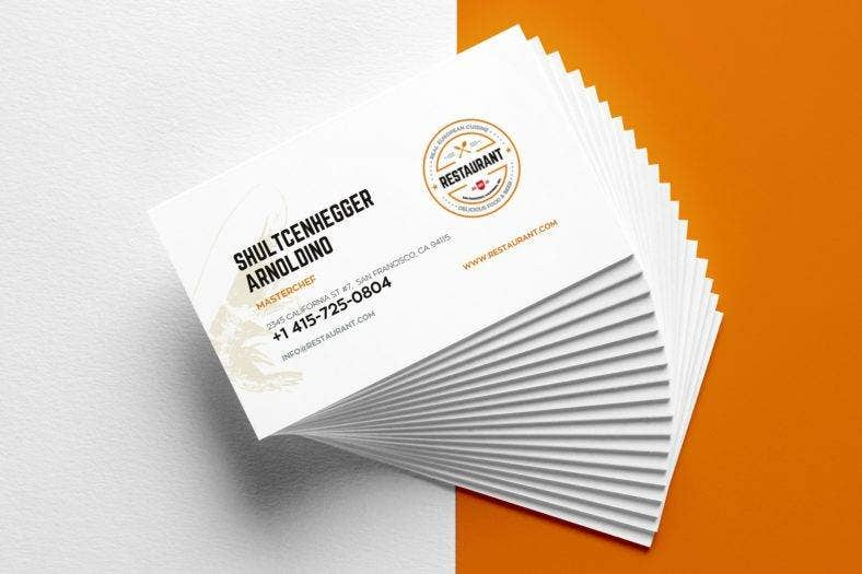 16 restaurant business card templates editable psd ai format clean restaurant business card flashek Gallery