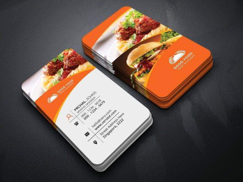 16 restaurant business card templates editable psd ai format vertical restaurant business card fbccfo Image collections
