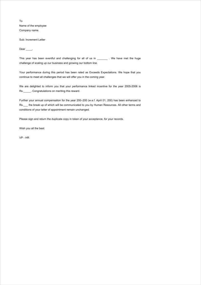 employee-appraisal-letter-from-hr-word-doc-1-788x1114 Sample Employee Promotion Letter Template on thank you for, congratulations your, template explanation,