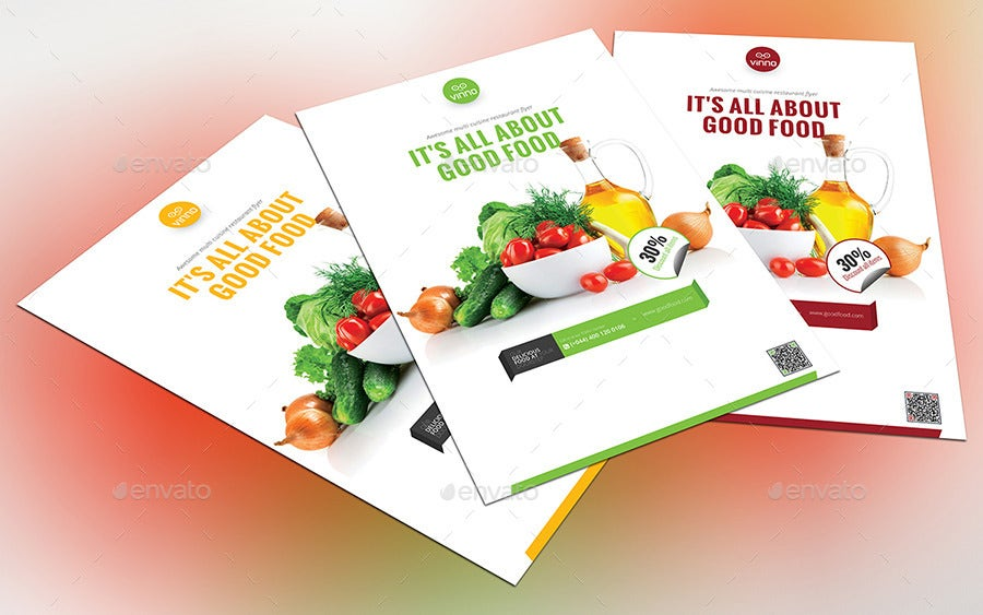 33  beautiful and creative restaurant flyers templates
