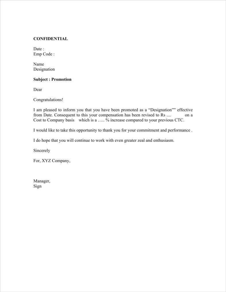 free download promotion appraisal letter template sample 1 788x1019