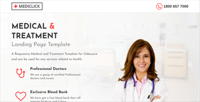 Best WordPress Landing Page Tools For Free Premium - Medical landing page template