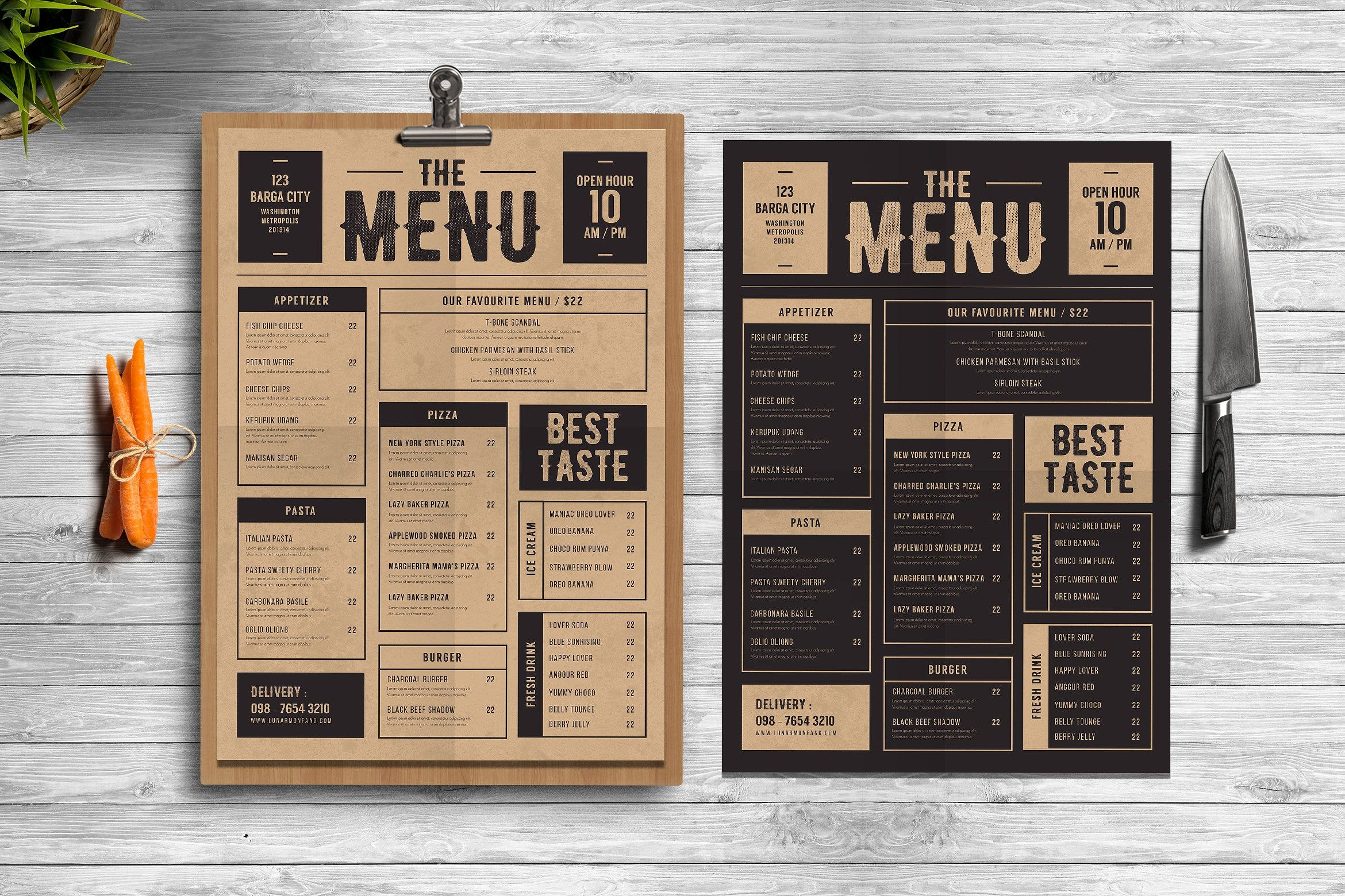 19 Restaurant Menu Templates PSD Docs Ai