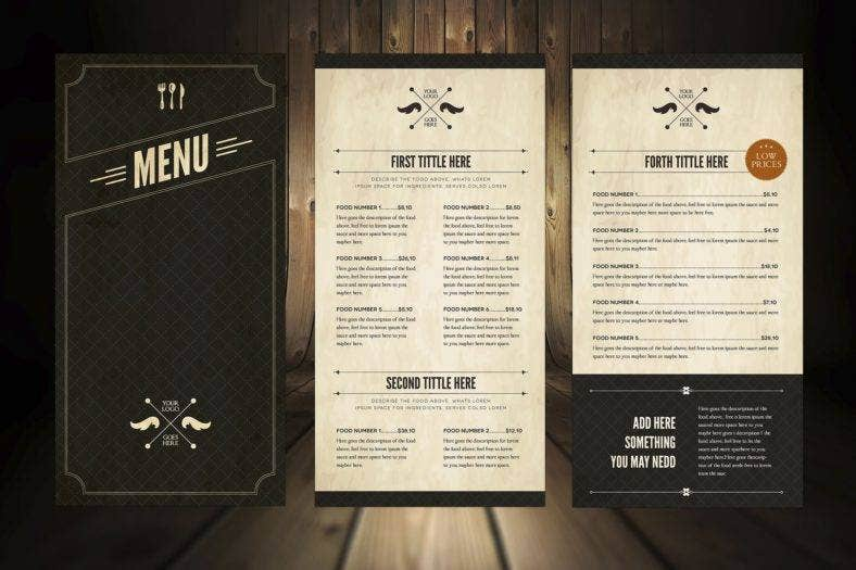 38  restaurant menu templates