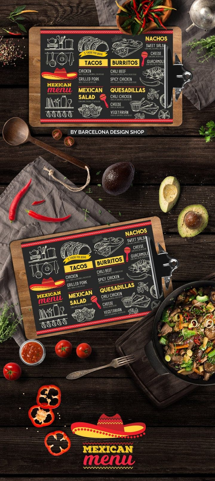 9  mexican restaurant menu and flyer templates