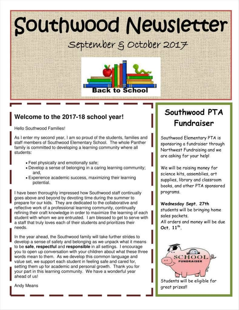 newsletter-1-788x1019 Teacher Newsletter Template For Elementary on