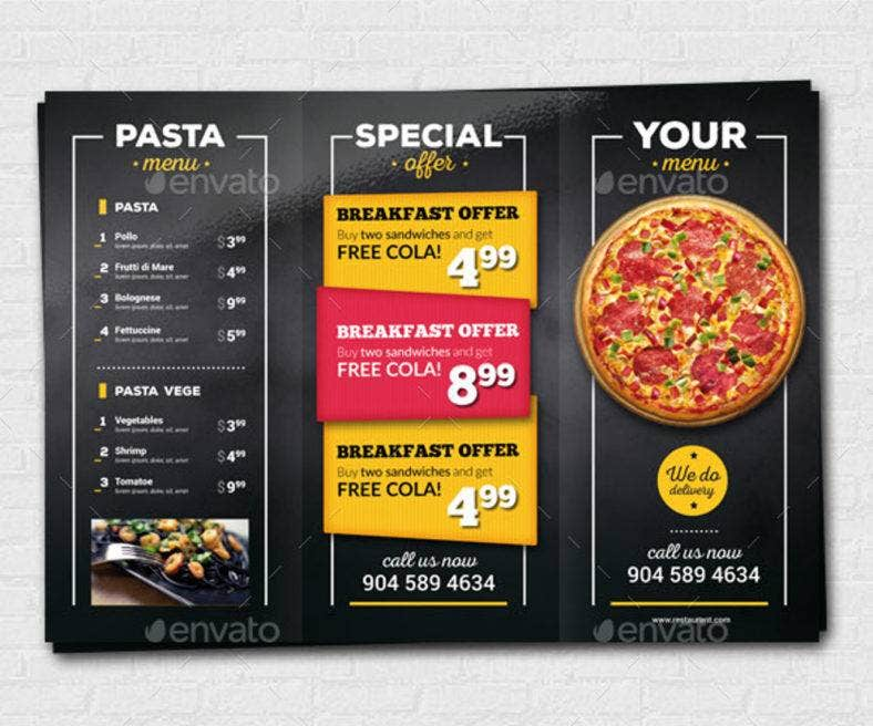 pizza menu trifold flyer preview 788x656