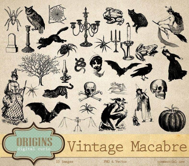 I Designed A Vintage Looking Border Art For You To Use In: 12+ Spooky Halloween Bat Templates