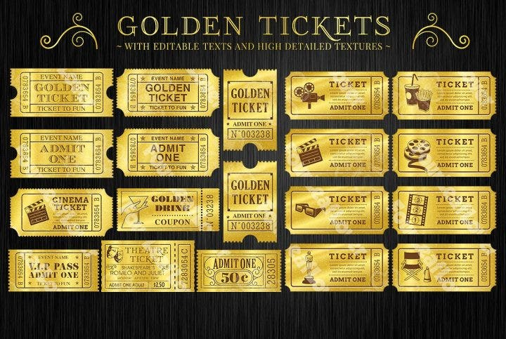 13  attractive raffle and movie ticket templates