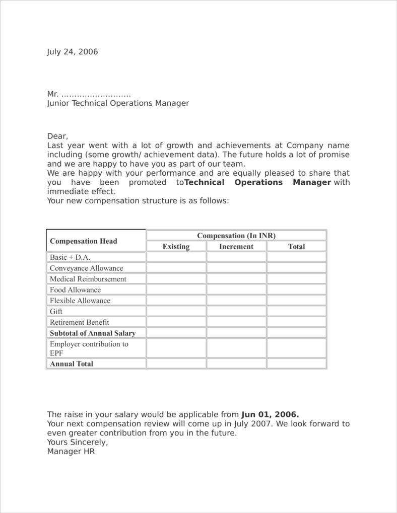 14 appraisal letter templates free doc pdf format download technical operations manager hr appraisal letter template for spiritdancerdesigns