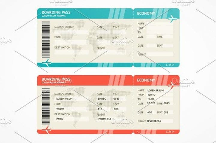 27  travel ticket templates