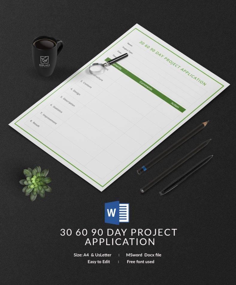 30-60-90 Day Job Application