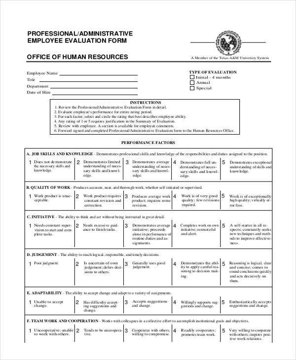 Administrative Employee Suggestion Form