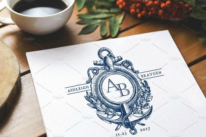 anchor-nautical-wedding-monogram-template